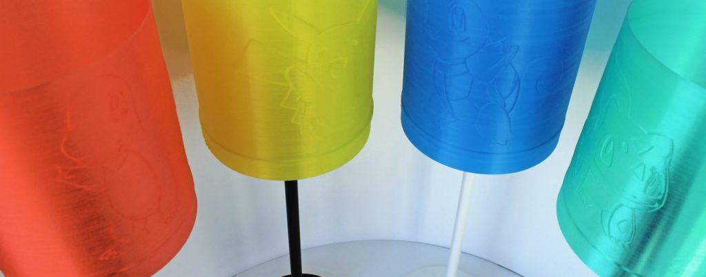 Pokemon Leuchte 3D gedruckt - Glumanda Pikachu Schiggy Bisasam