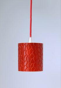 Fassung E27 Textil Kabel Rot