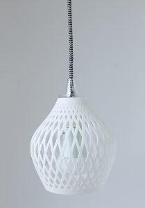 Fassung E27 Textil Kabel Schwarz Weiß