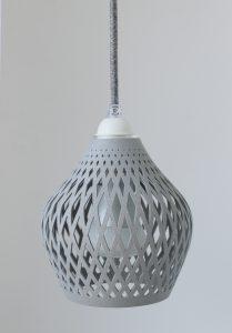Fassung E27 Textil Kabel Grau